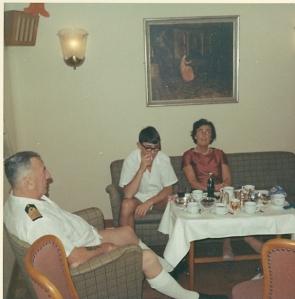 Skipper'n Arild Mathisen og meg i midten