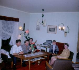 Fra venstre: Far, Johan, Gunhild, Roar, Tone