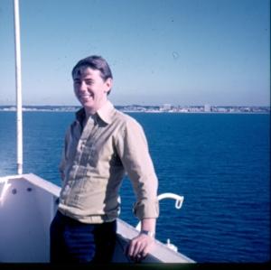 Terje på brovingen på Thorswave i 1974
