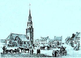 Notre-Dame-kirken som ble revet i perioden 1830-1845