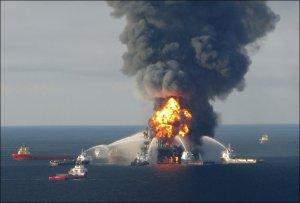 Oljekatastrofe i Mexicogulfen (bildet er lånt fra VG nett)
