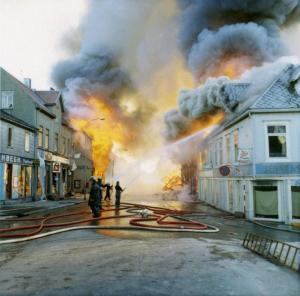 Tromsø - brannen i mai 1969 - bilde fra NRK av Gunnar Graff