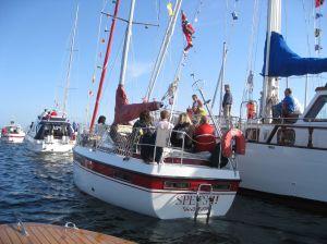 Mange båter tett i tett