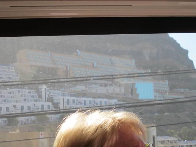 Hotellene i fjellet rundt Puerto Mogan.