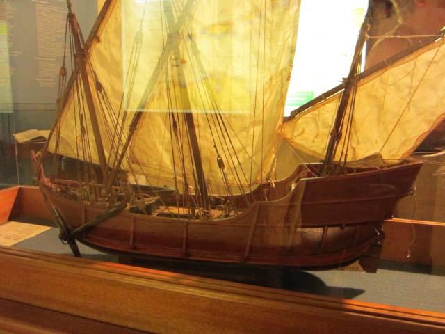 Modell av Columbus skip Niña