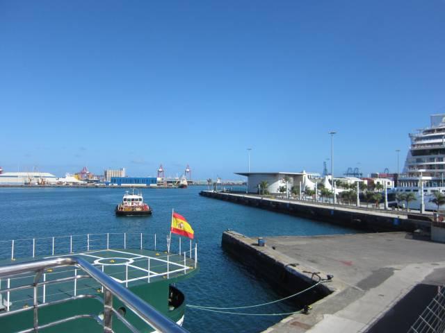 En liten del av bunkringshavnen i Las Palmas.