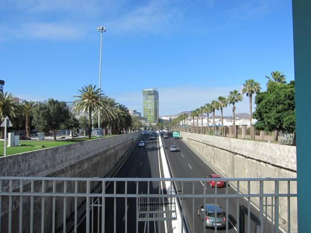 Hovedveien inn til Las Palmas. Vakkert, ikke sant?