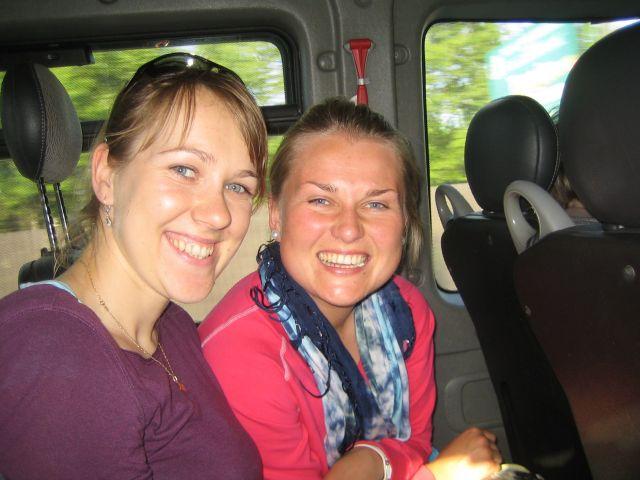 Våre to medpassasjerer i bussen til Krakow.
