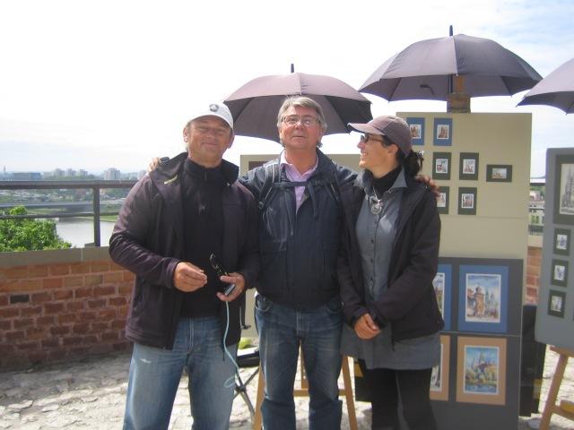 Våre kunstnervenner på Wawel-høyden