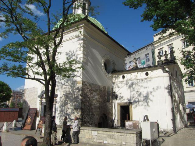 Den lille kirken St. Wojciech som er en av de eldste i Krakow. Konserten som vi skal oppleve foregår her. Kirken rommer totalt tjuefem mennesker.