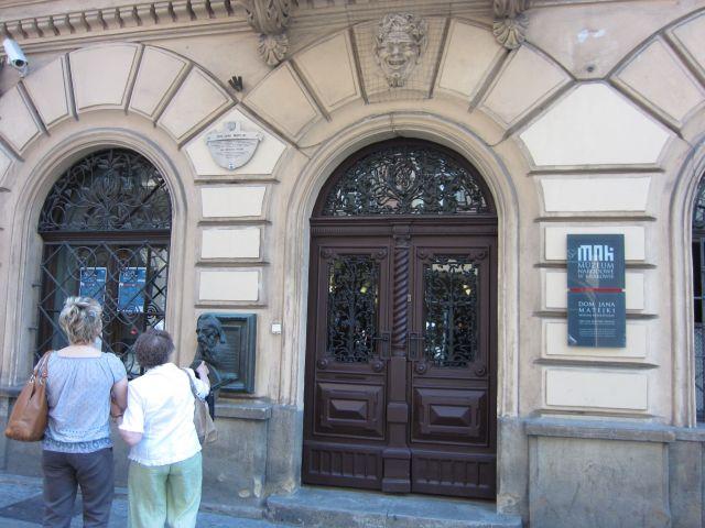 Inngangsdøren til Jan Matejkos hus