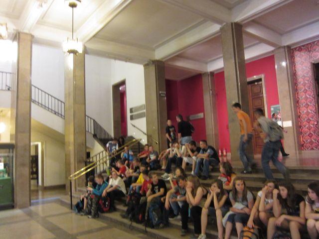 Skoleklasse på Nasjonalmuseet