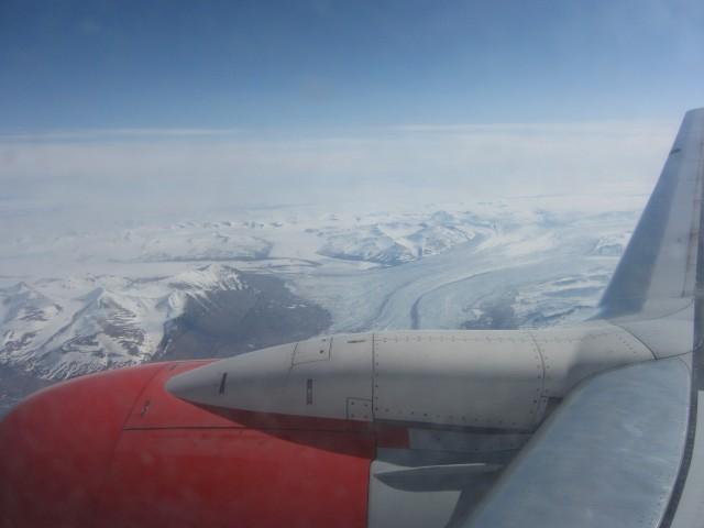 Det første syn av Svalbard.