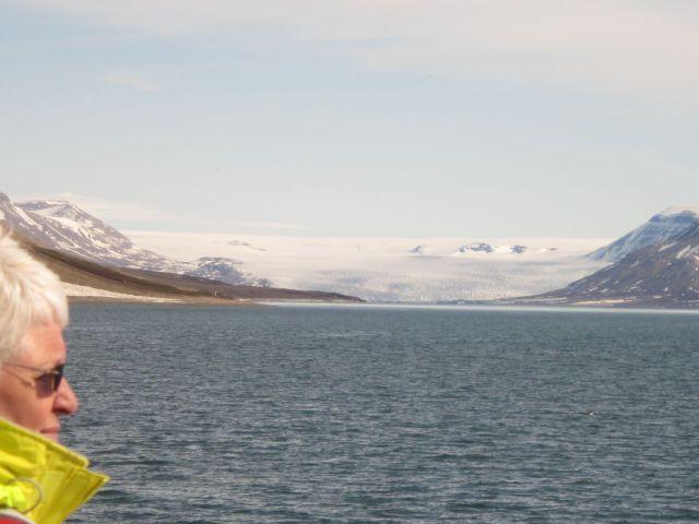 Billefjorden på Svalbard: Nordenskiöldsbreen (foto Terje Rønning)