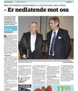 Ordførerne i Larvik og Sandefjord