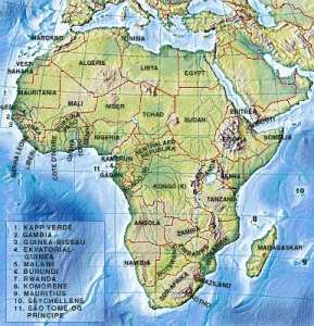 2015 09 04 - kart over Afrika